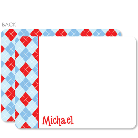 Argyle Flat Notecards | Swanky Press