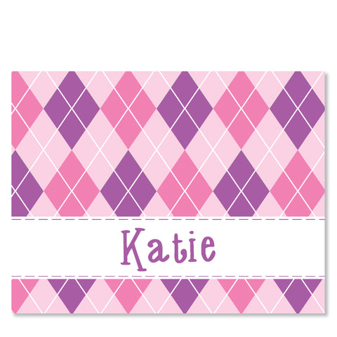 Argyle Girl Folded Notecards