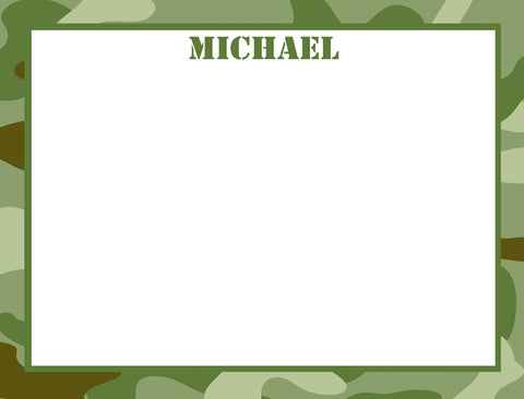 army camoflauge notecards