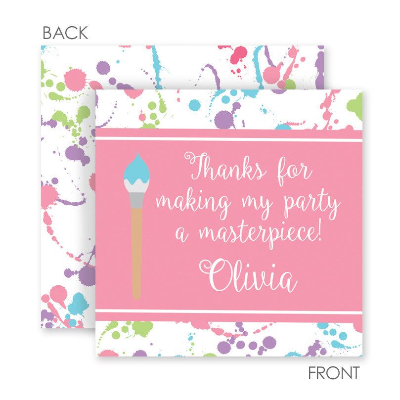 art party cardstock favor tags | Swanky Press