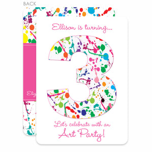 Art Party Paint Splatter Invitation | Swanky Press