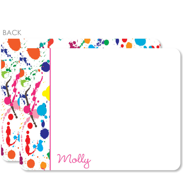 Art party Paint Splatter Notecards | Swanky Press