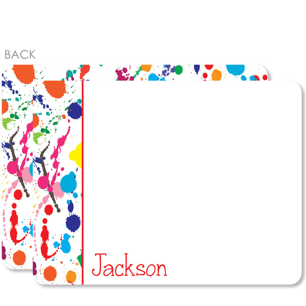 Art party Splatter Thank You Notecards | Swanky Press