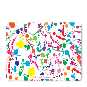 Art party Paint Splatter Notecards | Swanky Press | Back