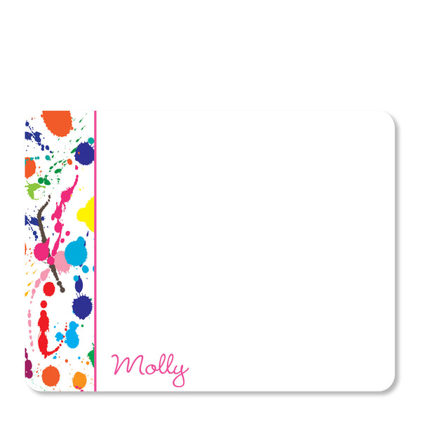 Art party Paint Splatter Notecards | Swanky Press | Front