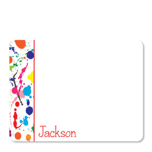 Art party Splatter Thank You Notecards | Swanky Press | Front