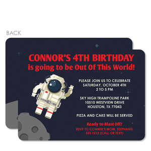 Astronaut Birthday Invitation (Blue) | Pipsy.com