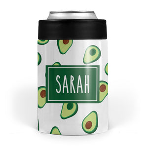 Avocado Stainless Steel Can Cooler