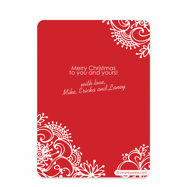 Fresh Flowers Holiday Photo Card