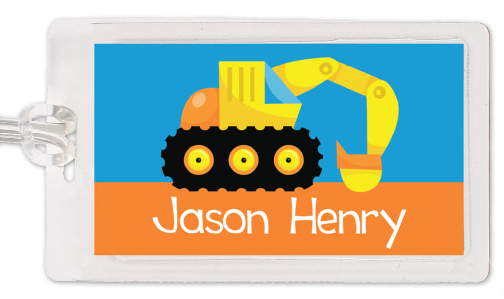 Backhoe Bag Tag
