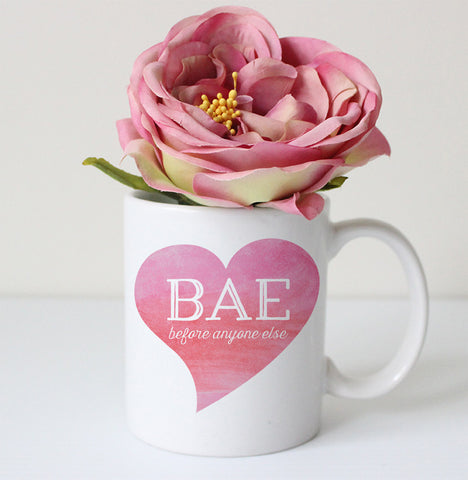BAE heart coffee mug