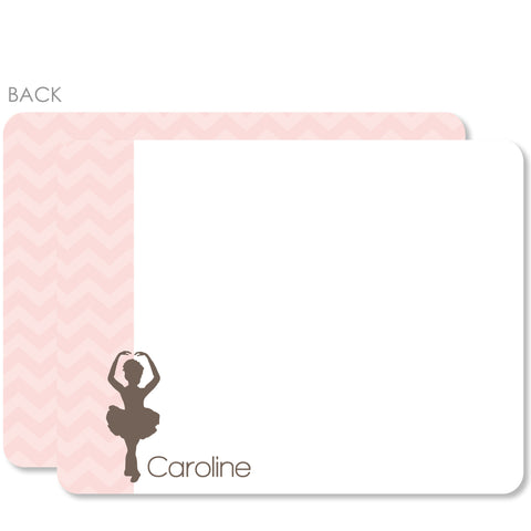 Ballet - Ballerina Flat Notecard | Swanky Press