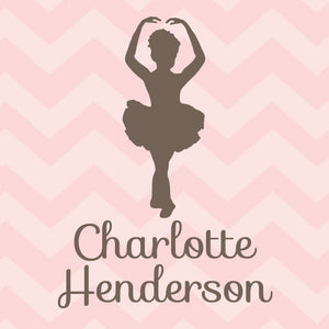 Ballerina on pink chevrons