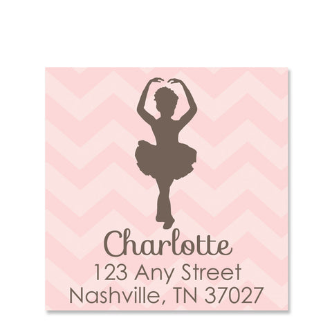 Ballerina Silhouette Return Address Stickers