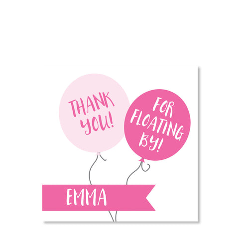 Balloon Party Sticker, Pink