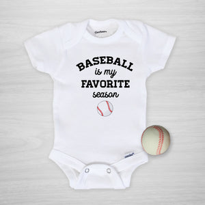 Baseball is my favorite season Gerber Onesie®, PIPSY.COM, short sleeved