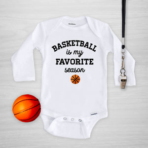 Basketball is my favorite season gerber onesie®, PIPSY.COM