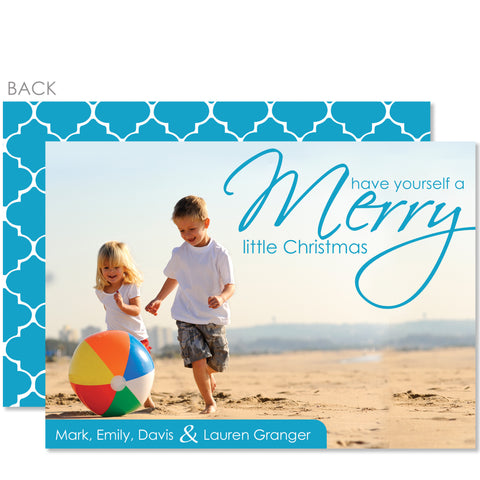 Beach Holiday Photo Card