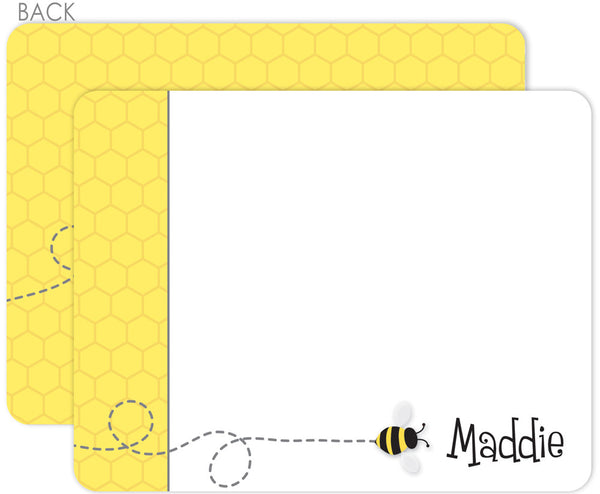 Bee on honeycomb  Flat Notecards