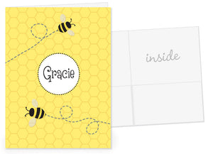 bee personalized pocket folder