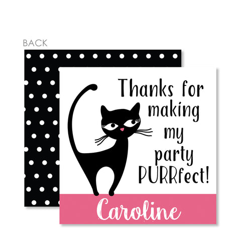 Cat Party Favor Tags | Swanky Press