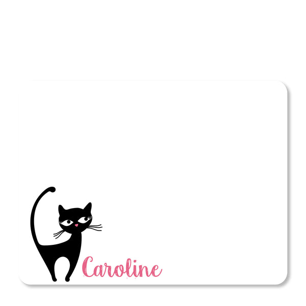 Cat Party Thank You Notes | Swanky Press (front view)