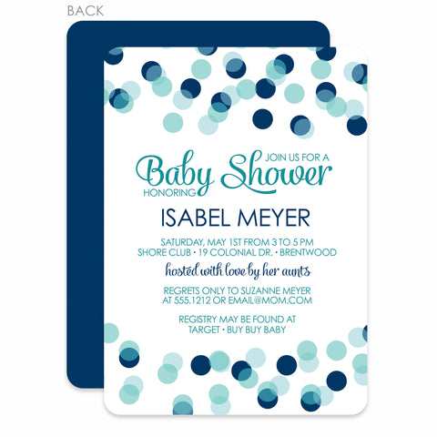 bokeh baby boy shower invitation