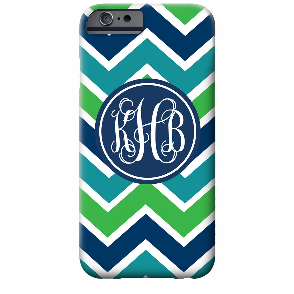 Monogrammed iPhone Case with Bold Chevron | Swanky Press