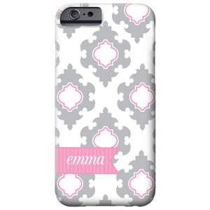Bold Damask Personalized iPhone Case | Swanky Press