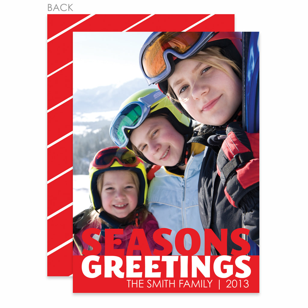 Bold Greetings Holiday Photo Card