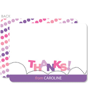 Bounce & Jump Party Flat Notecard | Swanky Press | Purple & Pink