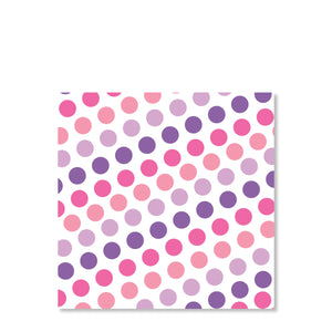 Pink & Purple Bounce & Jump Party Cardstock Gift Tag | Swanky Press | Back