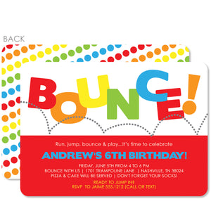 Bounce Birthday Invitation | Swanky Press | Red
