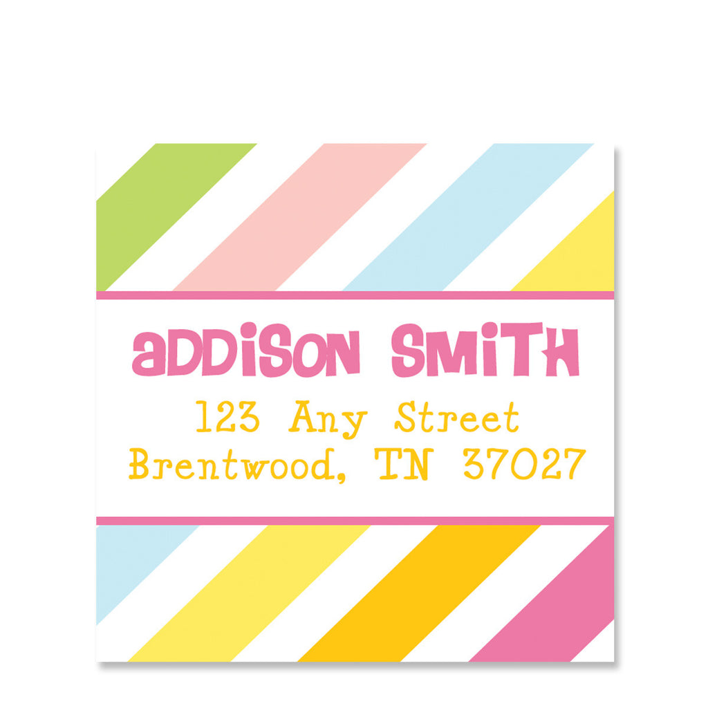 Bounce Girl  Return Address Square Stickers