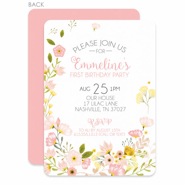 Bouquet Birthday Invitations | Swanky Press