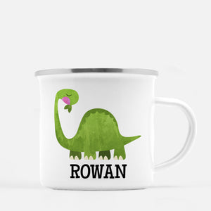 Dinosaur Camp Mug, Brontosaurus, Personalized with your Child's name, PIPSY.COM