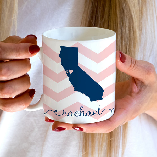 California State Love Coffee Mug | Swanky Press