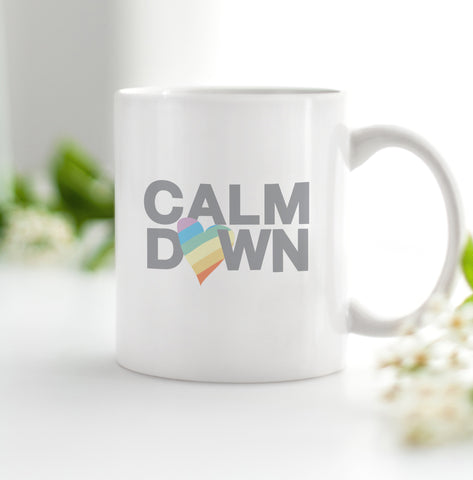 Calm Down Pride Coffee Mug