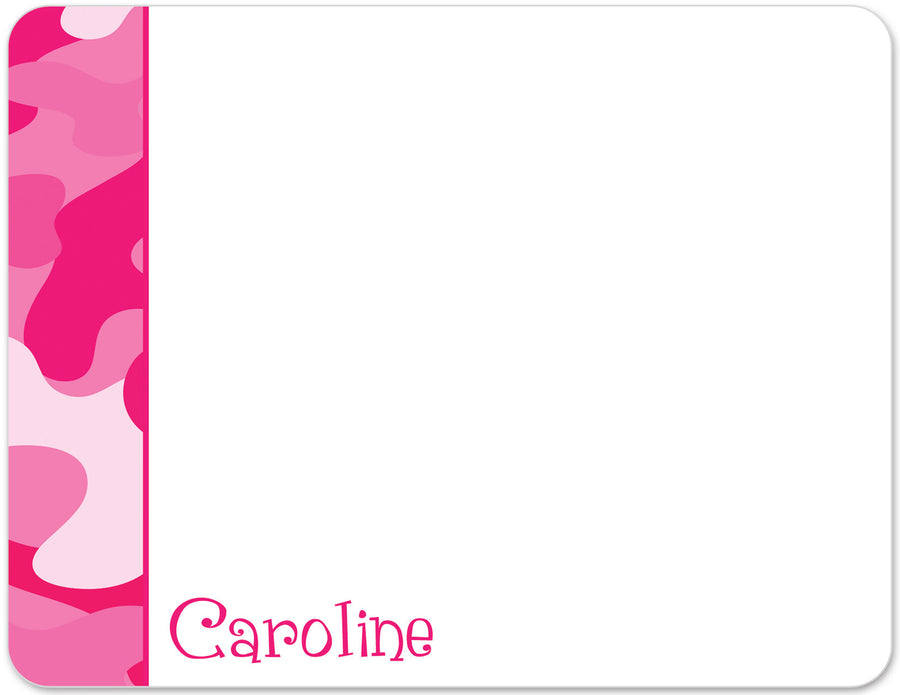 Hot Pink Camouflage Notecards