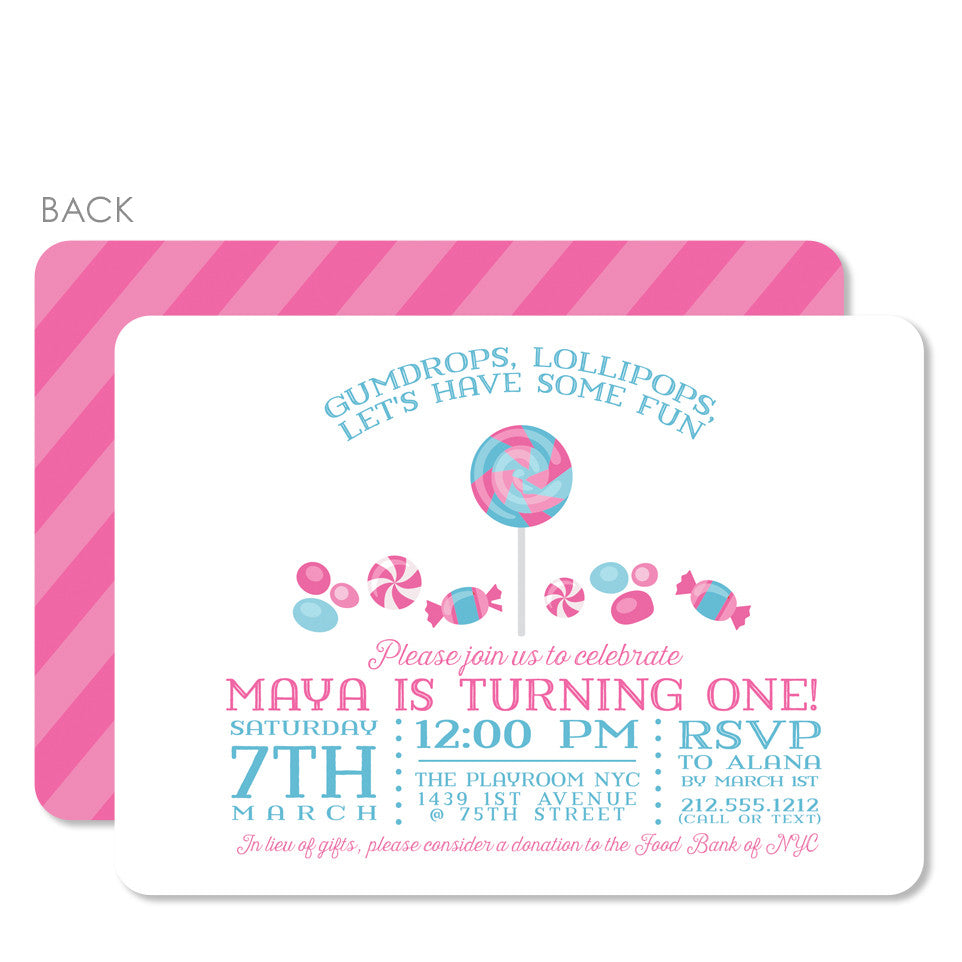 Candy Party Birthday Invitation | Swanky Press