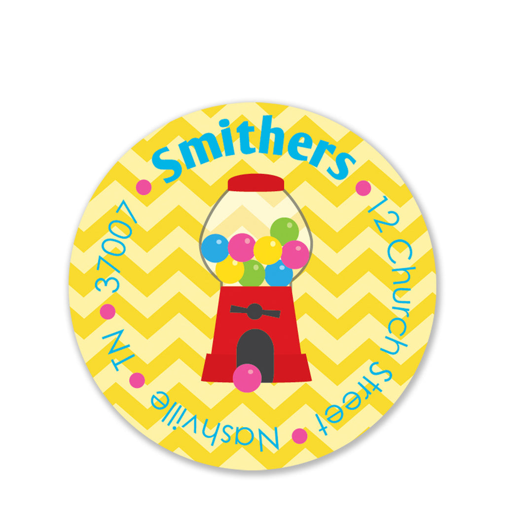 Candy Party Return Address Stickers