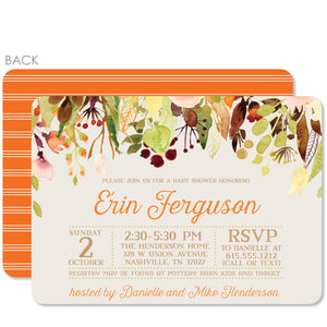 Cascading Flowers Baby Shower Invitation in Watercolor | Swanky Press