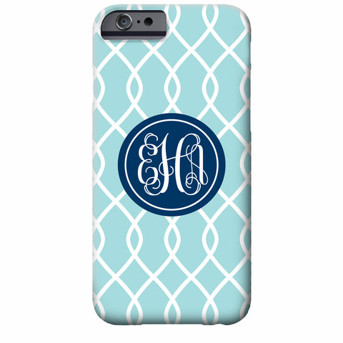 Chain Link Monogram iPhone Case | Swanky Press