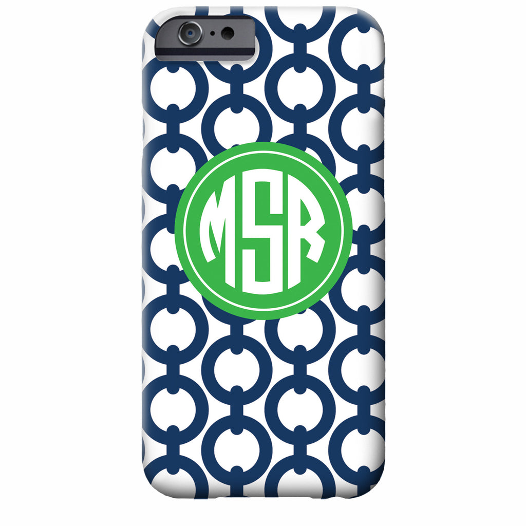 Monogrammed Chain iPhone Case | Swanky Press