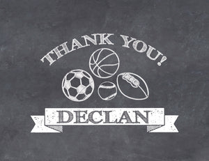 Sports Folded Thank you note | Swanky Press