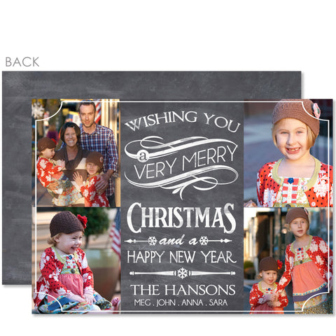 Chalkboard Holiday Photo Card (Multi-Photo Layout)