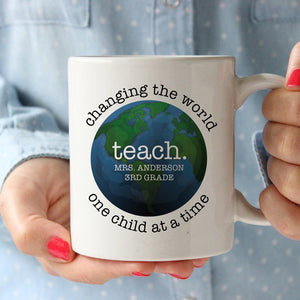 Mug - Changing the world one child at a time | Teacher Gift | Pipsy.com