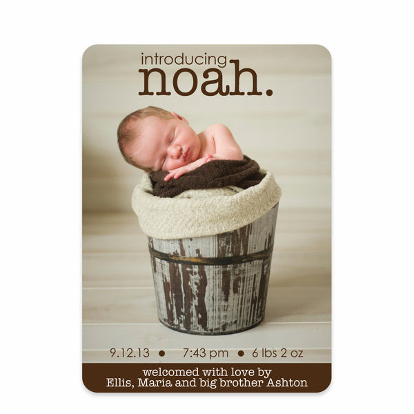 Charming Chocolate Birth Announcement
