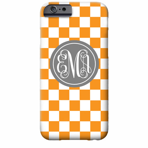 Monogrammed Checkerboard iPhone Case | Swanky Press