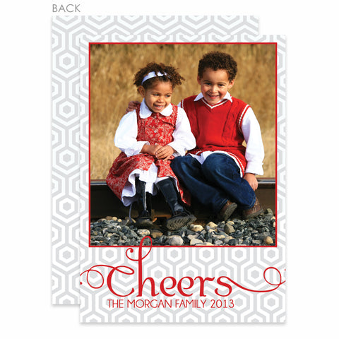 Cheers Holiday Photo Card